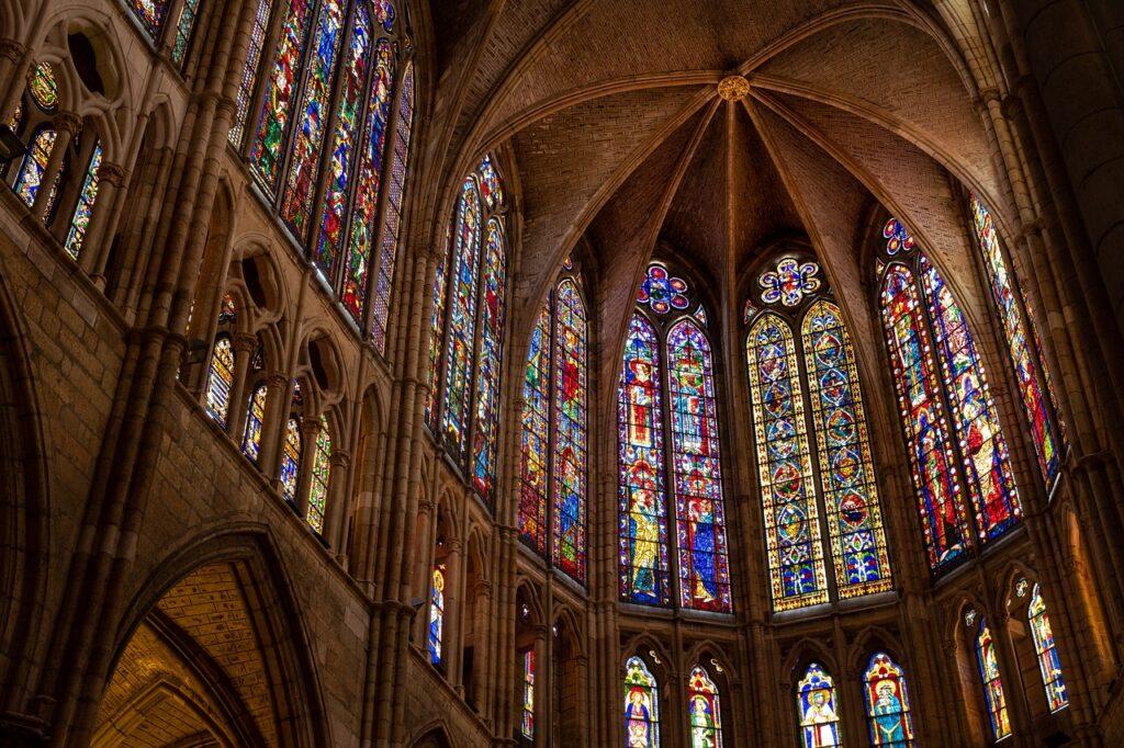 cathedral, architecture, interior